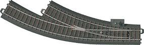 Marklin 3-Rail C Track RH Manual Curved Turnout HO Scale Nickel Silver Model Train Track #20672