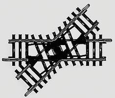 Marklin K Track Standard Crossing - 45 Degrees HO Scale Nickel Silver Model Train Track #2258