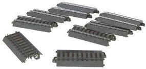 Marklin (bulk of 10) (bulk of 10) 3-Rail C Track Straight 3-3/64 HO Scale Nickel Silver Model Train Track #24077