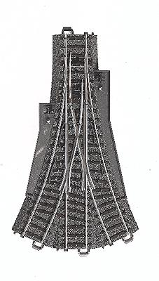 Marklin, Inc C Track - 3-Way Turnout -- HO Scale Nickel Silver Model Train Track -- #24630