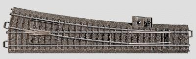 Marklin, Inc C Track - Right Wide Radius Turnout 9-5/16'' -- HO Scale Nickel Silver Model Train Track -- #24712