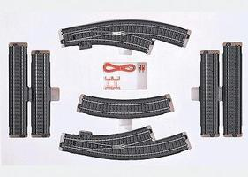 Marklin 3-Rail C Track - C3 Extension Set HO Scale Nickel Silver Model Train Track #24903