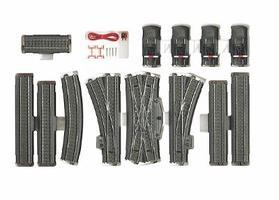 Marklin 3-Rail C Track - C5 Extension Set HO Scale Nickel Silver Model Train Track #24905
