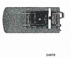 Marklin 3-Rail C Track - Track End w/Bumper & Lantern HO Scale Nickel Silver Model Train Track #24978