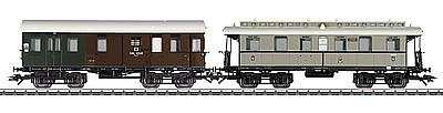 Marklin KPEV Branch Line 2-Car #1 - HO-Scale