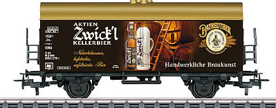 Marklin, Inc Aktien Zwick I Beer Car -- HO Scale Model Train Freight Car -- #44212
