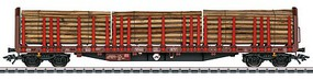 Marklin Type Roos 639 Stake 3-Pack 3-Rail Ready to Run German Railroad DB AG (Era VI 2009, Boxcar Red, gray, white)