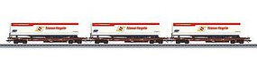 Marklin Type Sdgkms 707 Container Flatcar w/Trailers 3-Pack HO Scale Model Train Freight Car #47082