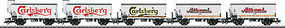 Marklin DSB Beer 5-Car Set HO Scale Model Train Freight Car Set #48779