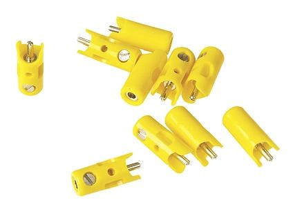 Marklin New Style Plugs pkg(10) - Yellow Model Railroad Electrical Accessory #71412