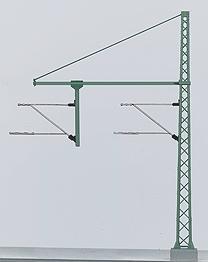 Marklin Catenary Tower Mast with tubular Outrigger HO Scale Model Train Trackside Accessory #74106