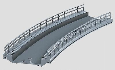 Marklin, Inc C Track Curved Ramp 14-3/16'' -- HO Scale Nickel Silver Model Train Track -- #74613