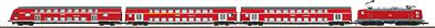 Marklin, Inc Class 143 Electric Bi-Level Commuter Train German RR -- Z Scale Model Train Set -- #81444