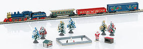 Christmas Market Set 120V Z Scale Model Train Set #81846