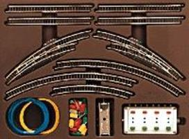 Marklin T1 Extension Set w/Electric Turnouts Z Scale Nickel Silver Model Train Track #8192