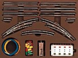 Marklin T2 Extension Set w/Electric Turnouts Z Scale Nickel Silver Model Train Track #8193