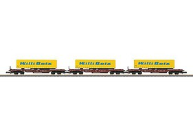 Marklin Deep Well Flat 3-Car Set - Exclusiv DB Schenker - Z-Scale
