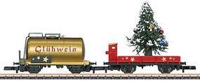 Marklin Christmas Add-On Set - Tank Car & Low-Side Gondola Z Scale Model Train Freight Car #82720