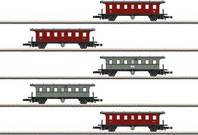 Marklin K W St E Pass 5 Car Set Z-Scale