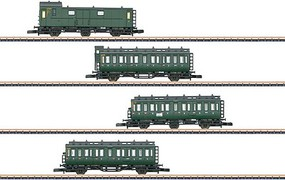 Marklin DB Passenger 4 Car Set - Z-Scale