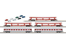 Marklin DB Auto Train 5-Car Set Z Scale Model Train Set #87092