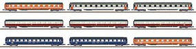 Marklin MHI Exclusiv Eurofima Passenger Car Assortment 9 Different Cars - Z-Scale
