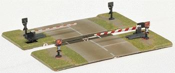 Marklin, Inc Automatic Grade Crossing Gate w/Half Gates -- Z Scale Model Railroad Trackside Accessory -- #8992