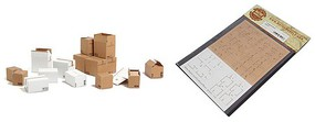 Matho 1/35 Cardboard Boxes Generic, Printed Paper (28) (6 different designs)