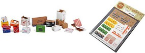 Matho 1/35 Cardboard Boxes Small Set Variety, Printed Paper (32) (18 different designs)