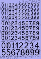 Matho Multi-Scale Black large Type 1 Numbers Decal