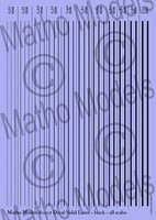Matho Multi-Scale Black Solid Lines Decal