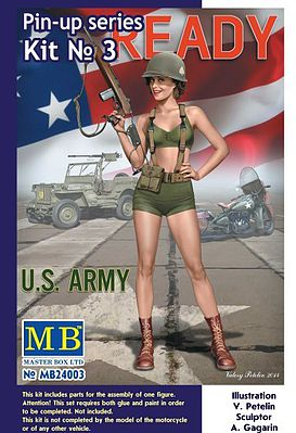 Master Box  Limited Alice US Army Pin-Up -- Plastic Model Military Figure Kit -- 1/24 Scale -- #24003