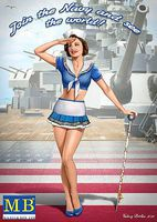 Master-Box Suzie USN Pin-Up Plastic Model Military Figure Kit 1/24 Scale #24004