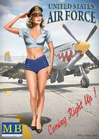 Master-Box 1/24 Patty USAF Pin-Up Girl Standing Saluting