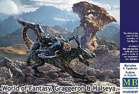 Master-Box Graggeron & Halseya World of Fantasy Plastic Model Fantasy Figure Kit 1/24 Scale #24007