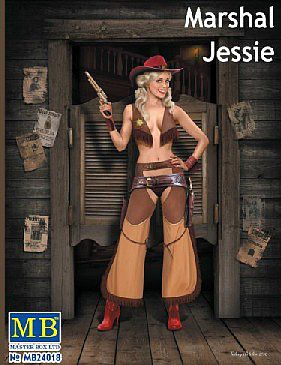 Master Box  Limited 1/24 Marshal Jessie Western Style Pin-Up Cowgirl