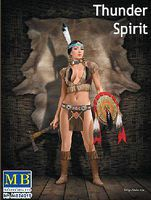 Master-Box Thunder Spirit Western Style Pin-Up Indian Girl Plastic Model Military Figure 1/24 #24019