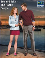 Master-Box Bob & Sally Modern Couple Arm in Arm Plastic Model Figure Kit 1/24 #24029