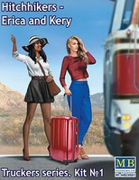 Master-Box 1/24 Erica & Kery Hitchhikers w/Suitcase (New Tool) (APR)