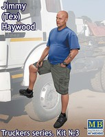 Master-Box 1/24 Jimmy Tex Haywood Trucker Standing w/One Foot Raised (New Tool) (APR)