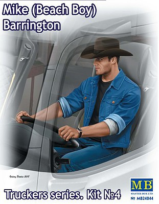Master-Box Mike Barrington Trucker Sitting Plastic Model Figure Kit 1/24 #24044