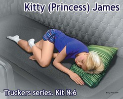 Master-Box Kitty James Trucker Passenger Sleeping Plastic Model Figure Kit 1/24 #24046