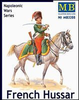 Master-Box Napoleonic War French Hussar Plastic Model Military Figure Kit 1/32 Scale #3208