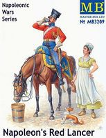 Master-Box Napoleons Red Lancer Mounted on Horse and Maiden Plastic Model Military Figure 1/32 #3209