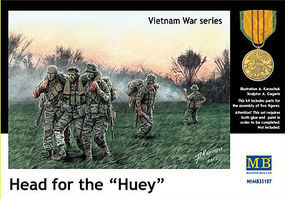 Head for the Huey US Soldiers Vietnam (5) Plastic Model Military Figure 1/35 Scale #35107