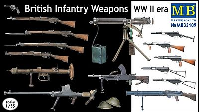 Master Box  Limited WWII British Infantry Weapons -- Plastic Model Weapon -- 1/35 Scale -- #35109