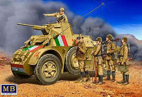 Master-Box Italian Military Crew (5) Plastic Model Military Vehicle Kit 1/35 Scale #35144