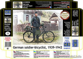 Master-Box German Soldier Bicyclist 1939 Plastic Model Military Figure Kit 1/35 Scale #35171