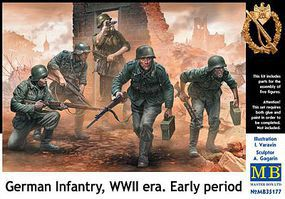Master-Box 1/35 German Infantry on the Move Under Fire WWII Era Early (5)