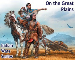 Master-Box 1/35 On The Great Plaines Indian w/Woman, Child, Horse & Accessories (New Tool)